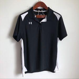 Under Armour Black Polo Short Sleeve Top Xl